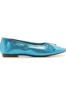 Sapatilha Ballerina Snake Blue | Schutz