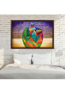 Quadro Love Decor Com Moldura Maçã Em Detalhes Artísticos Madeira Escura Médio
