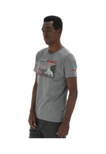 Camiseta Ecko Pica-Pau E624A - Masculina - Cinza Escuro