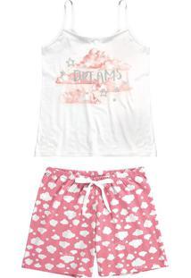 Pijama Curto Estampado Dreams Malwee Liberta