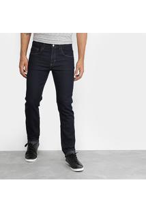 Calça Jeans Skinny Rock Blue Elastano Amaciada Escura Masculina - Masculino
