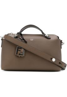 Fendi Monogram Detail Shoulder Bag - Marrom