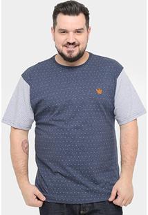 Camiseta Local Plus Size Poá Masculina - Masculino