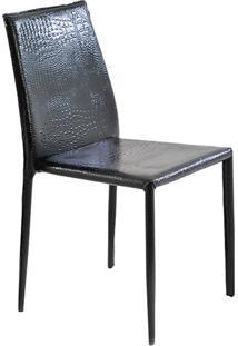 Cadeira Amanda Pvc Crocco Preto - Rivatti