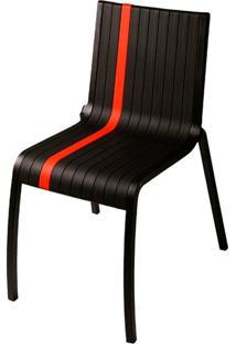 Cadeira Milan De Pvc Sem Braço Preta