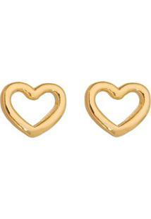 Par De Brincos Coraã§Ã£O Banhado A Ouro- Dourado- 0,5Xisabela Borgonian