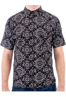 Camisa Andy Roll Rockstyle Free Preta