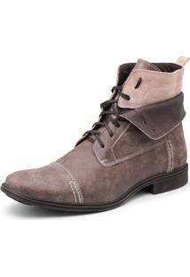 Bota Em Couro Top Franca Shoes Café