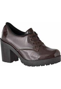 752a10ab7 ... Oxford D R Shoes Verniz Tratorada Feminina - Feminino-Marrom