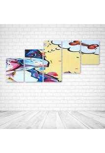 Quadro Decorativo - Dog Dream Bone - Composto De 5 Quadros - Multicolorido - Dafiti