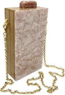 Bolsa La Madame Co Clutch Pearl Stone Branco