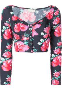 Fleur Du Mal Top Cropped Jersey - Vermelho