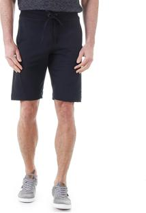 Bermuda Moletom Jogger Masculina Km - Preto