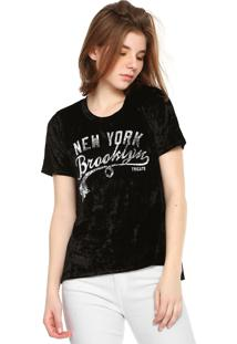 Camiseta Tricats Veludo Brooklin Preta
