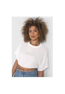 Camiseta Cropped Colcci Tag Branca