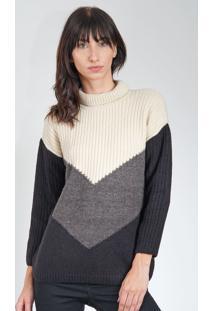 Blusa Calvin Klein Jeans Bege/Preta