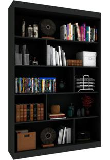 Estante Livreiro Office I Onix Preto 120 Cm