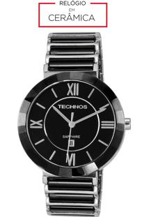 03c726730d3 ... Relógio Feminino Technos Analógico Cerâmica Vidro Safira 2015Bx 1P Preto