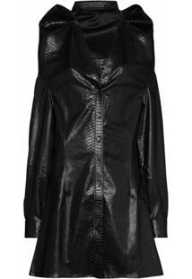 Y/Project Vestido Evasê Com Sobreposição - Preto