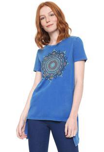 Blusa Desigual Morkey Azul - Kanui