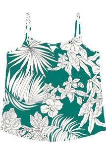 Blusa De Alça Crepe Feminina Verde