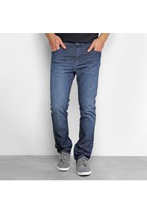 Calça Jeans Ellus Lake Elastic Straight Masculina - Masculino-Azul Escuro