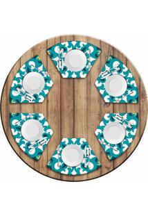 Jogo Americano Love Decor Para Mesa Redonda Wevans Mandala Green Kit Com 6 Pçs