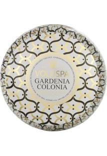 Vela Gardenia Colonia Coleção Maison Blanc 2 Pavios Lata 50 Horas Voluspa