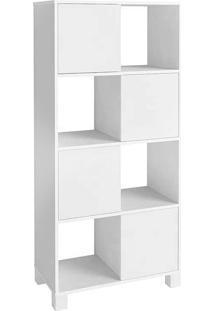 Armário Com 4 Portas E 8 Nichos Wally - Artany - Branco