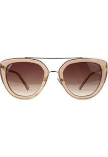 Óculos De Sol Atitude At3244 T01/52 Bege/Dourado - Kanui