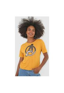 Blusa Cativa Marvel Avengers Amarela