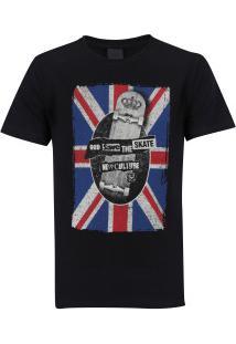 Camiseta Newskate England - Masculina - Preto