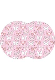 Tapete Pet Mdecore Geométrico Borboleta Rosa 54X39Cm