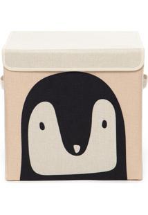 Caixa Organizadora Infantil Com Tampa - Pinguim - Tricae