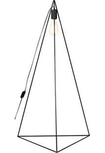 Luminaria De Chao Seixo Estrutura Em Ferro Redondo Cor Preto 0,50Cm (Larg) - 54097 - Sun House
