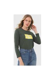 Blusa Calvin Klein Jeans Logo Verde
