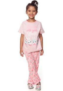 Pijama Bailarina- Rosa Claro & Brancopuket