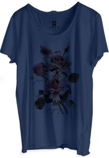 Camiseta Masculina Joss Corte A Fio Maior Jardim Azul