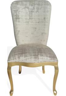 Cadeira Inglesa Estofada Madeira Maciça Design Clássico Peça Artesanal