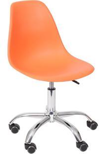 Cadeira Dkr Com Rodízios Laranja