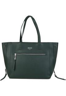 Bolsa Santa Lolla Shopper Mestiço Feminina - Feminino-Verde Escuro