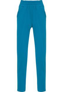 Calça Feminina Skinny Crepe Tecno - Azul