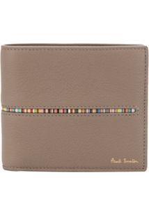Paul Smith Carteira Signature Com Listras - Neutro
