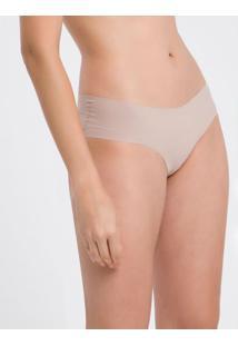 Calcinha Tanga Lisa Básica Ck One Nude Underwear Calvin Klein - S