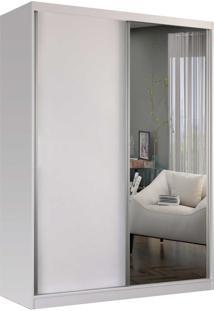Guarda-Roupa Solteiro 2 Portas De Correr 1 Espelho Branco M Foscarini - Branco - Dafiti