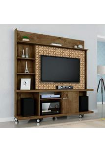 Estante Home Para Tv Até 47 Polegadas 1 Porta Basculante Taurus Móveis Bechara Marrom 3D
