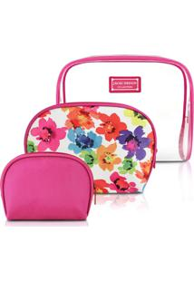 Kit De 3 Necessaires Pink - Jacki Design