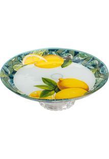 Centro De Mesa Lemons Com Pã©- Branco & Amarelo Escuro