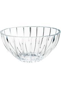 Centro De Mesa Cristal Oval 30,5Cm - Bohemia Transparente