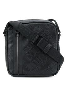 Versace Jeans Couture Bolsa Carteiro Com Logo - Preto